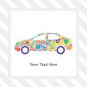 Card of the Car Gears - stock illustration