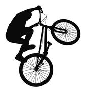 Biker vector silhouette Stock Illustration