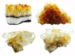 Citrine geode geological crystals Stock Photos