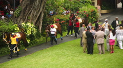 Horses performed at the Mauritius Turf Club Stock Footage