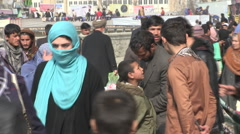 Kabul downtown the old city Afghanistan on the bazar Stock Footage