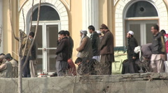 Kabul downtown the old city Afghanistan praying at the mosque Stock Footage