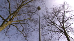 Air raid siren Stock Footage