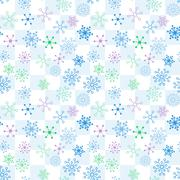 Colorful Flower Pattern Stock Illustration