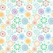 Colorful Flower Pattern - stock illustration