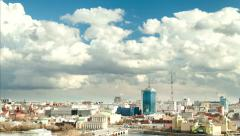 Time lapse in Russian city Stock Footage