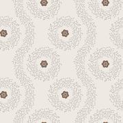 Seamless pattern of twigs - stock illustration