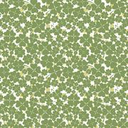 Seamless texture with clover of four leaves - stock illustration
