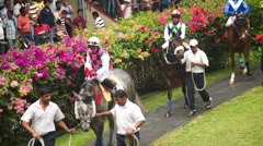 Jockeys performed at The Mauritius Turf Club Stock Footage