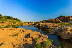 Unseen Thailand grand canyon sam pan bok at ubonratchathani - stock photo
