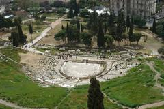 Theatre Dionysus Eleuthereus n Athens - stock photo