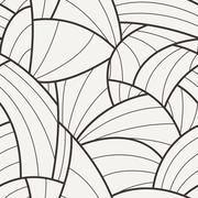 Seamless vector pattern of curved lines - stock illustration