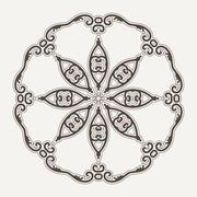 Filigree Flower Henna Pattern - stock illustration