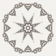 Stock Illustration of Filigree Flower Henna Pattern