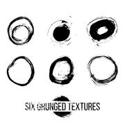 Set of dirty scratched splattered elements - stock illustration