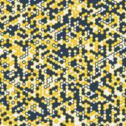 Vector digital background of hexagons Stock Illustration