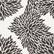 Vector seamless pattern of leaves - stock illustration