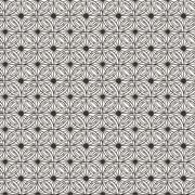 Vector seamless hand-drawn floral pattern - stock illustration