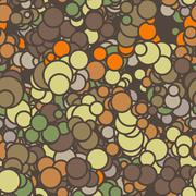 Vector seamless pattern of colored circles with contours Stock Illustration