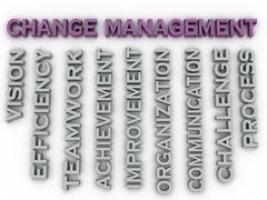 3d image change management   issues concept word cloud background - stock illustration