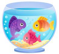 Aquarium theme image - eps10 vector illustration. - stock illustration