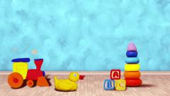 Blue Baby room with toys Stock Footage