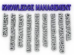 Stock Illustration of 3d image knowledge management   issues concept word cloud background