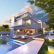 Stock Illustration of Modern mansion