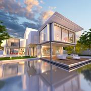 Stock Illustration of dream house front