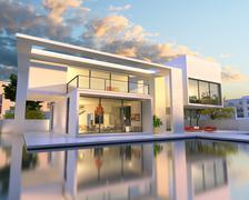 Stock Illustration of Dream house back