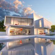 Stock Illustration of House cube deconstruction