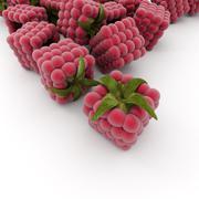 Cubic raspberries Stock Illustration