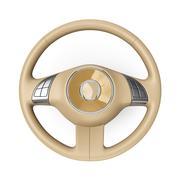 Beige steering wheel - stock illustration