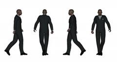 Walking Business Man Stock Footage