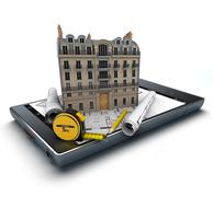 Apartment renovation app Stock Illustration
