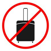 Icon ban luggage. - stock illustration