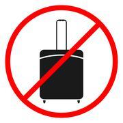 Icon ban luggage. - stock illustration
