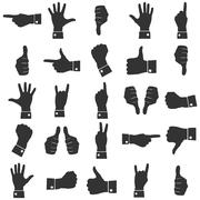 Icons hands Stock Illustration