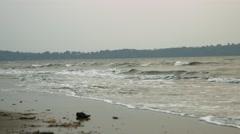 4K Shot of beach in Goa 06 - stock footage
