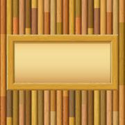 Wooden Framework with Paper on a Wall Stock Illustration