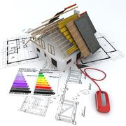 Energy saving construction online Stock Illustration