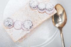 napoleon blueberry cake dessert - stock photo