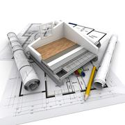 Home construction technical - stock illustration