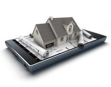 Home creation app - stock illustration