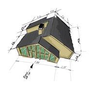 House draft - stock illustration