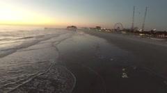 Beach sunrise aerial Stock Footage