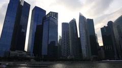 Singapore Trade Center Stock Footage