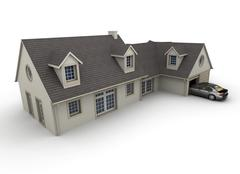 Stock Illustration of House with garage
