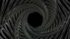Travel through alien twisting tunnel. Stock Footage