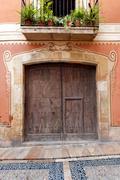 Ornate door - stock photo